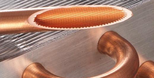 内螺纹铜管铜带滚压成形焊接法