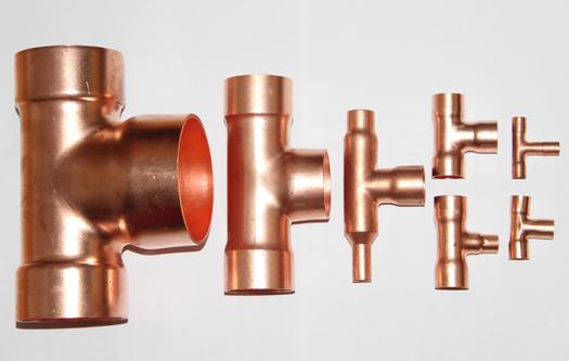紫铜T型三通制冷配件管件焊接操作及流程方法